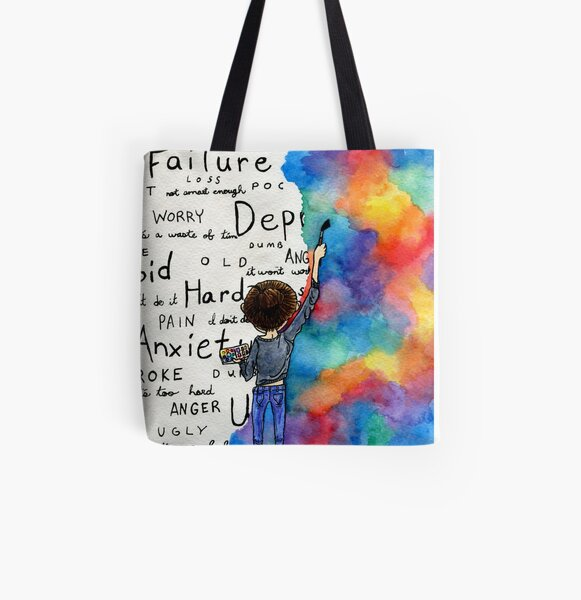 Always Keep Fighting Watercolor Painting (2015) REVAMP All Over Print Tote Bag
