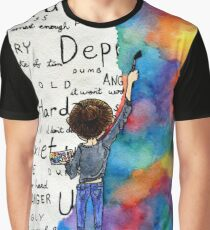 Always Keep Fighting Watercolor Painting (2015) REVAMP Graphic T-Shirt