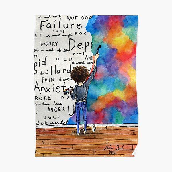 Always Keep Fighting Watercolor Painting (2015) REVAMP Poster