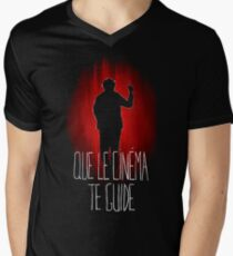UM15 - QUE LE CINEMA TE GUIDE Mens V-Neck T-Shirt