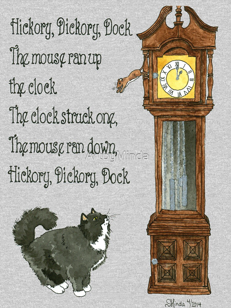 Daily Doodle 12-Hickory Dickory Dock by ArtbyMinda