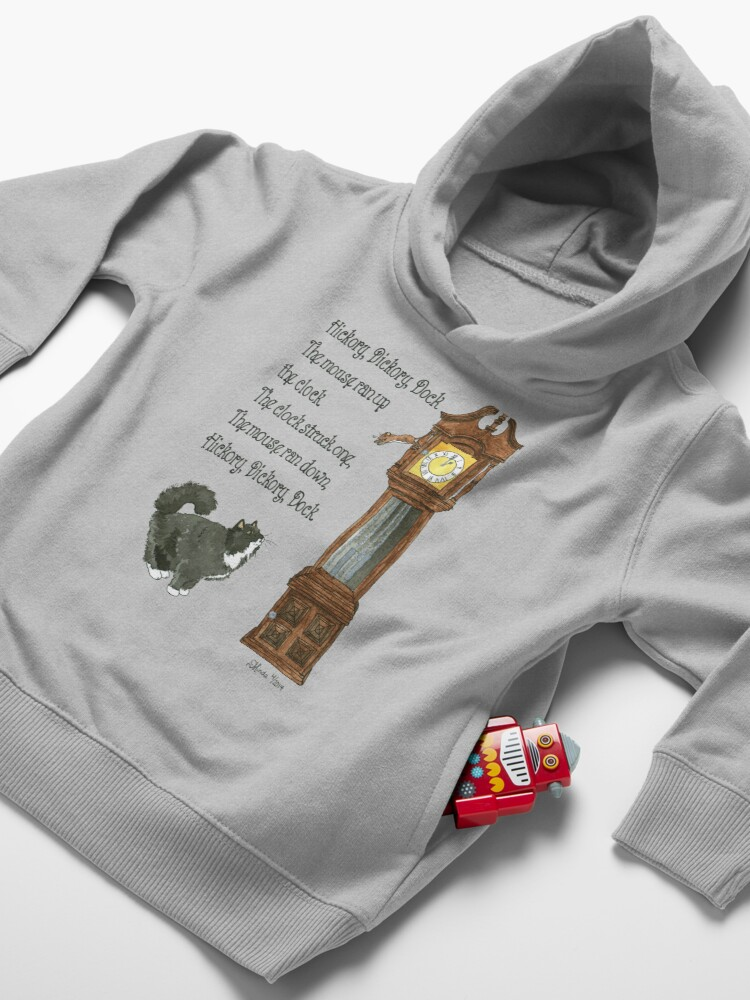 Alternate view of Daily Doodle 12-Hickory Dickory Dock Toddler Pullover Hoodie