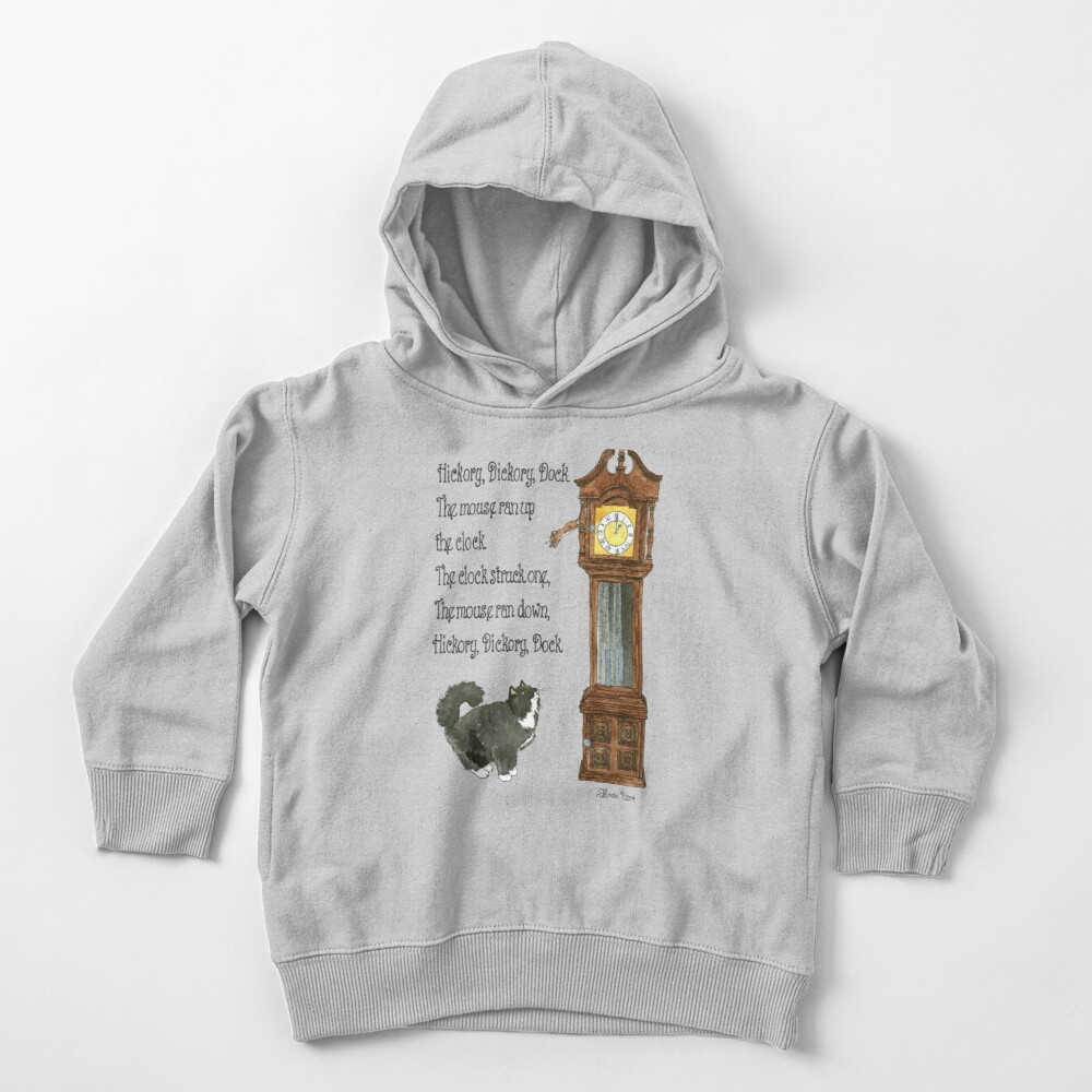 Daily Doodle 12-Hickory Dickory Dock Toddler Pullover Hoodie