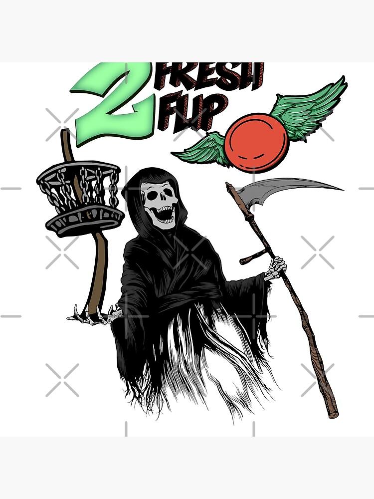 Disco Golf Deporte Disco volador Grim Reaper Monster Art de hip-hop-art