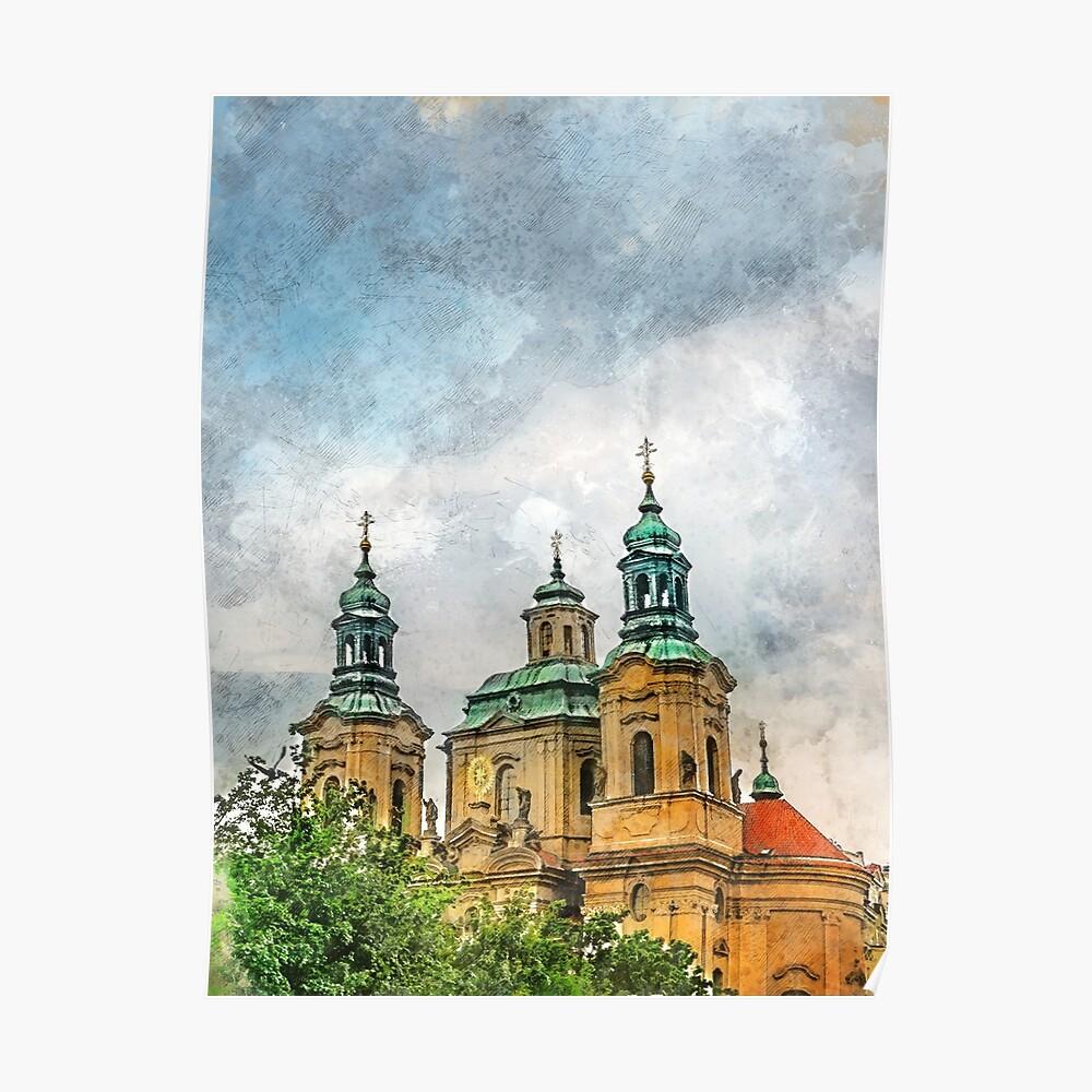 Praha city art #praha #prague Poster