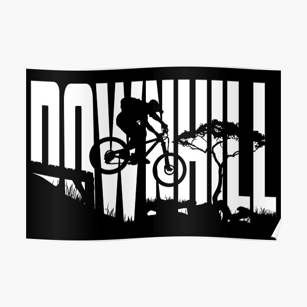 Downhill MTB Mountain Bike - Bikepark Gift Poster