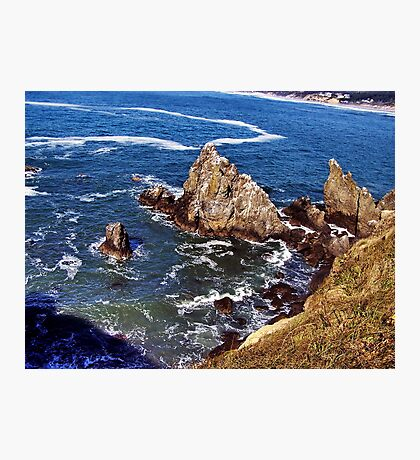 Dizzying heights--Newport Oregon Photographic Print