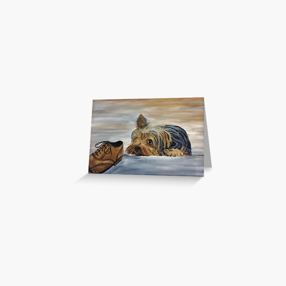 Yorkshire Terrier - Naughty Dog Greeting Card (Blank) Greeting Card