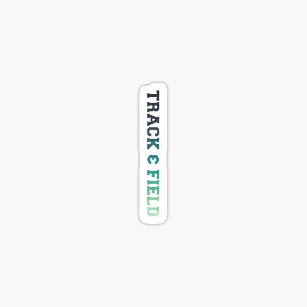 Track & Field - Multi Color Green/Blue Sticker