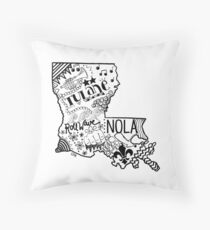 Louisiana  Throw Pillow