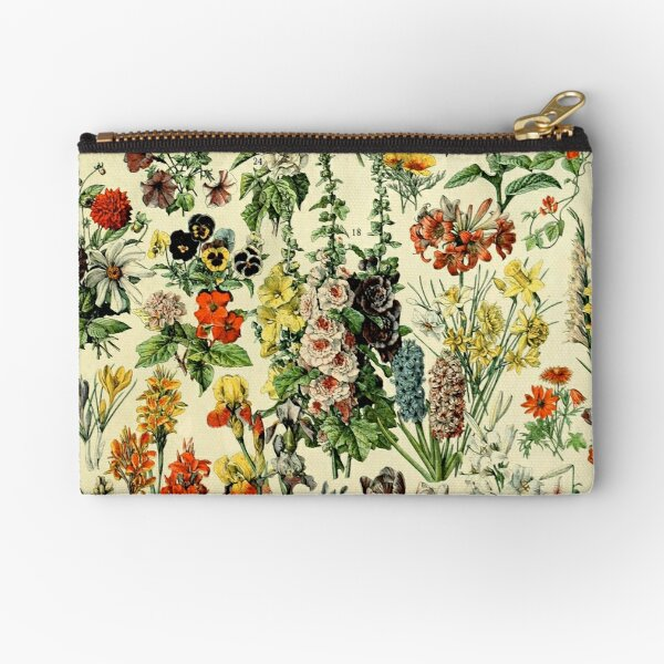 Fleurs de jardin colorées Dessins botaniques d'époque Pochette