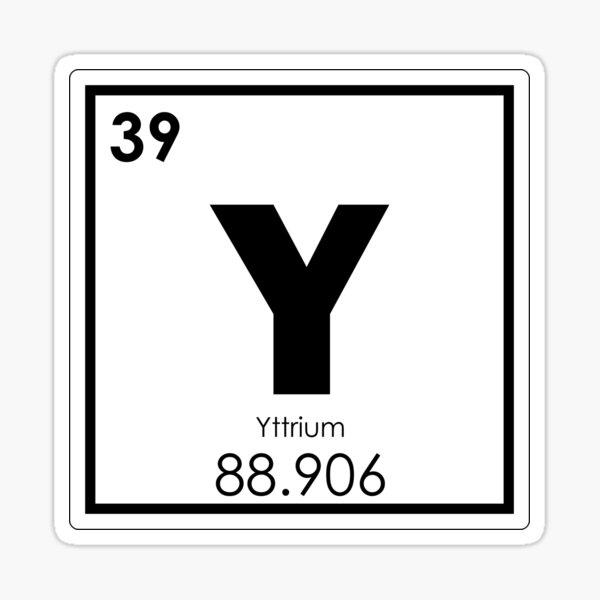 Yttrium chemical element Sticker