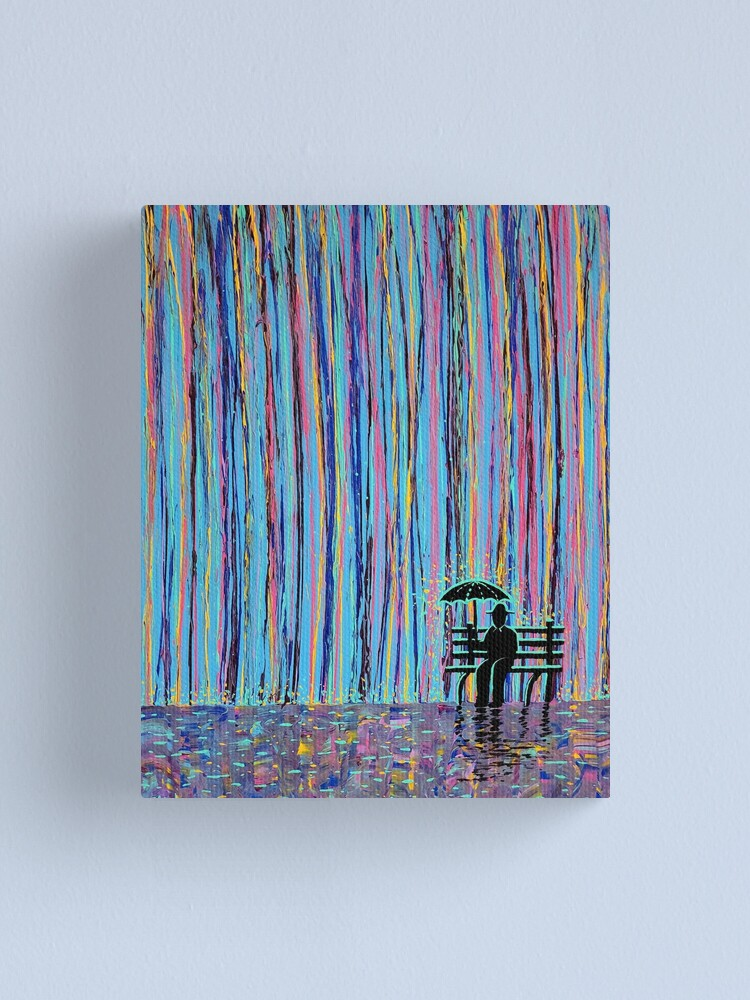 Alternate view of Acid Rain #3 - (MUCH LARGER REMAKE OF ORIGINAL) Canvas Print