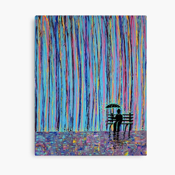 Acid Rain #3 - (MUCH LARGER REMAKE OF ORIGINAL) Canvas Print