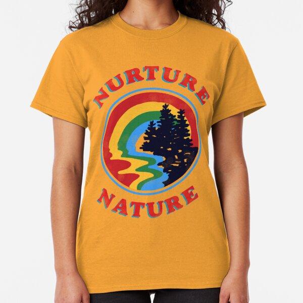 nurture nature vintage environmentalist design Classic T-Shirt