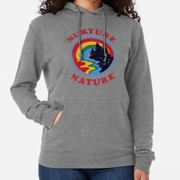 nurture nature vintage environmentalist design Lightweight Hoodie
