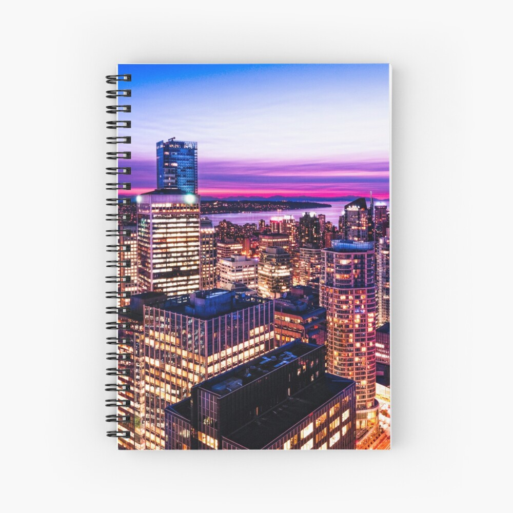 1688 English Bay Romantic Twilight Vancouver British Columbia Canada Spiral Notebook