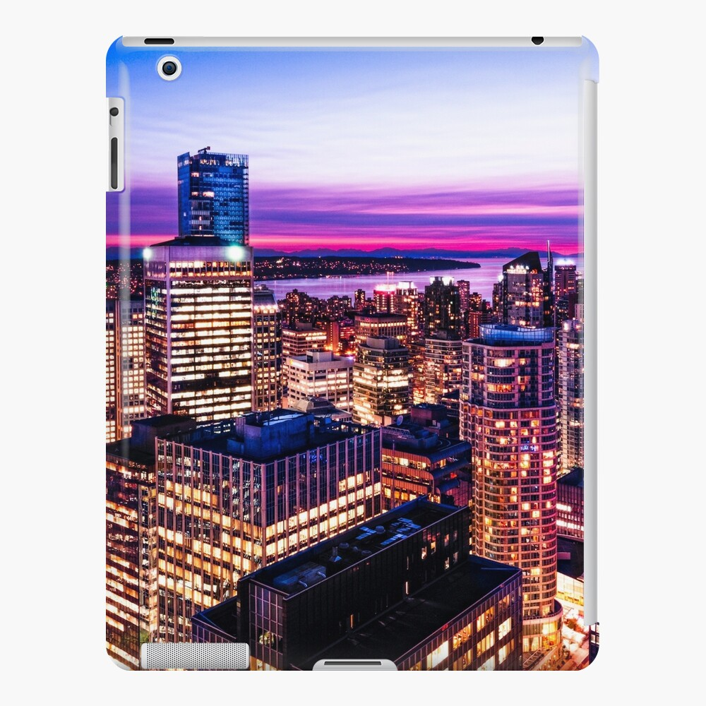 1688 English Bay Romantic Twilight Vancouver British Columbia Canada iPad Case & Skin