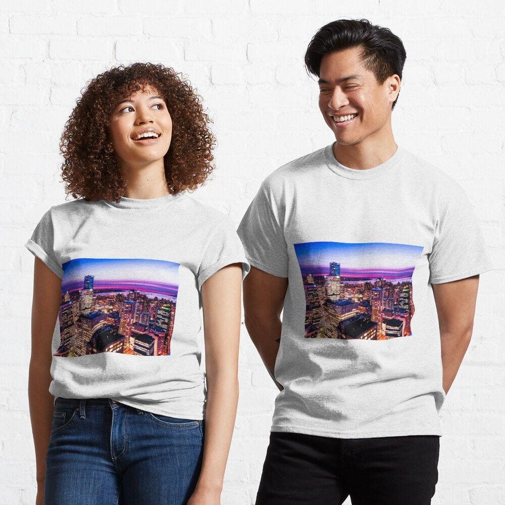 1688 English Bay Romantic Twilight Vancouver British Columbia Canada Classic T-Shirt