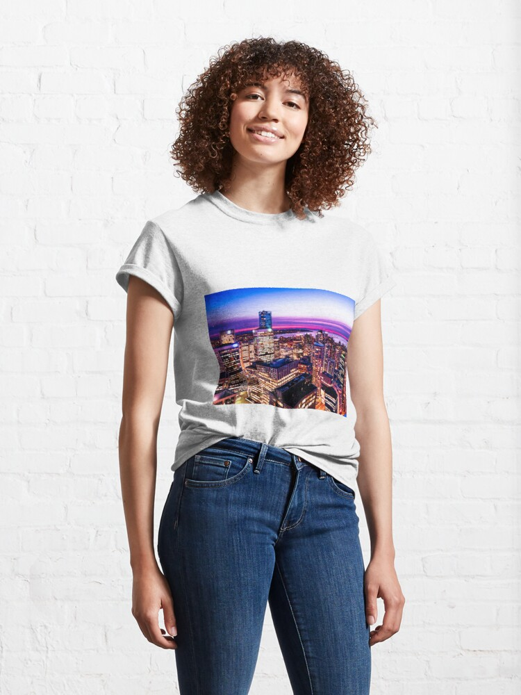 Alternate view of 1688 English Bay Romantic Twilight Vancouver British Columbia Canada Classic T-Shirt