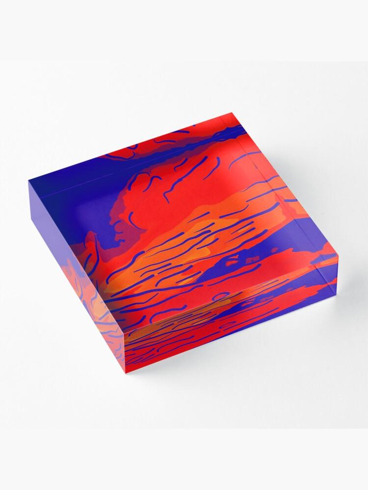 Alternative Ansicht von abstract style aurora borealis absbry Acrylblock