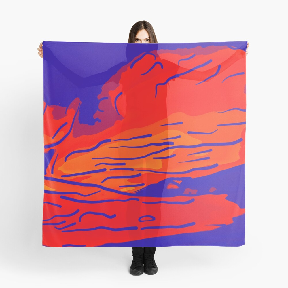 abstract style aurora borealis absbry Tuch