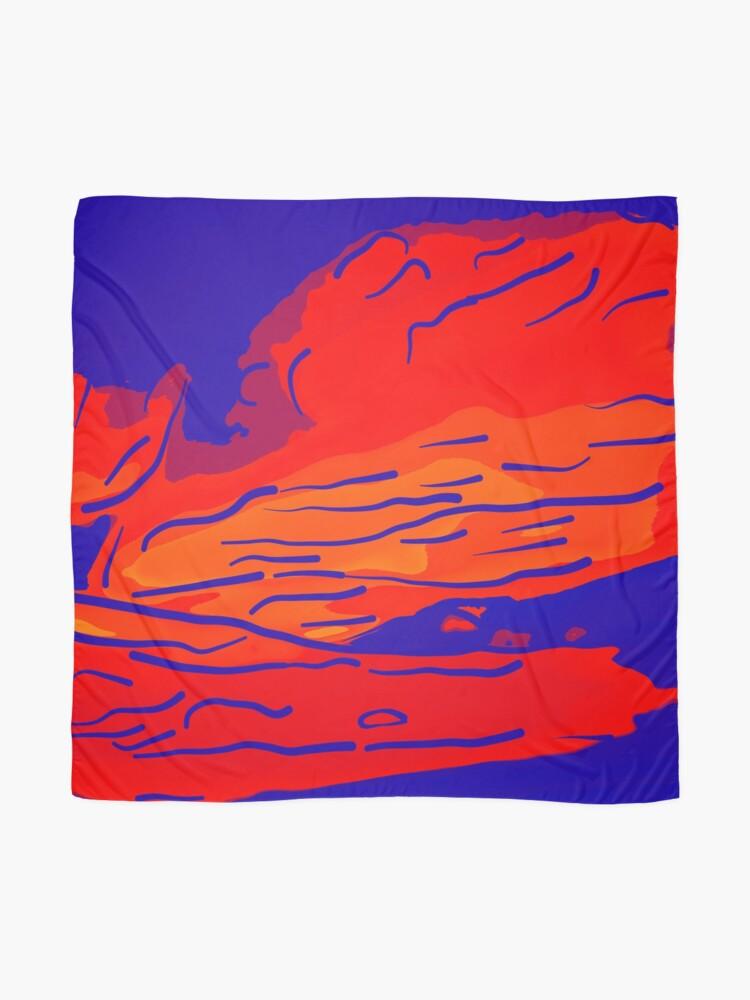 Alternative Ansicht von abstract style aurora borealis absbry Tuch
