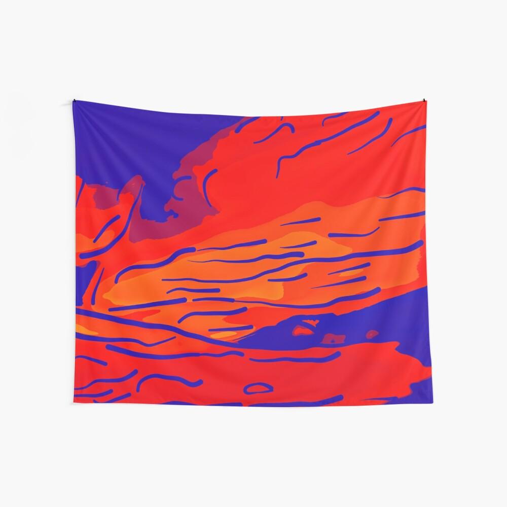 abstract style aurora borealis absbry Wandbehang