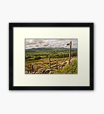 The footpath to the Lancashire landscape Framed Print