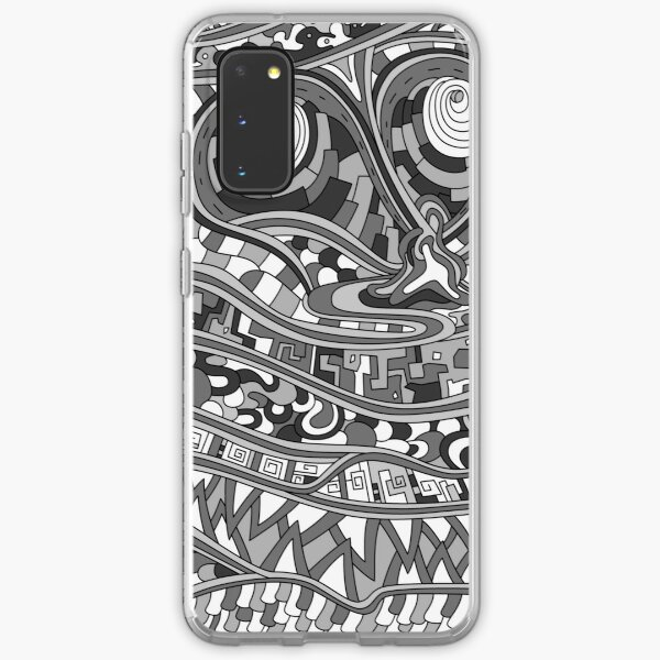 Wandering Abstract Line Art 03: Grayscale Samsung Galaxy Soft Case