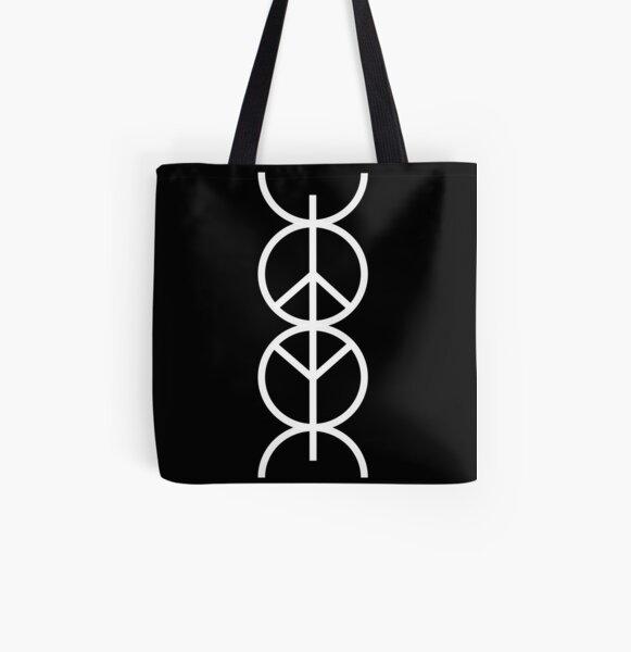 Wabi$abi symbol (white) All Over Print Tote Bag
