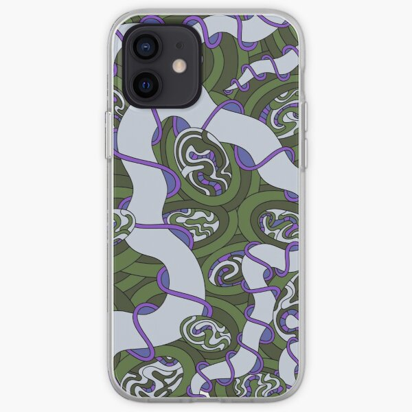 Wandering Abstract Line Art 04: Green iPhone Soft Case