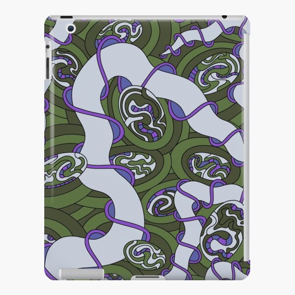 Wandering Abstract Line Art 04: Green iPad Snap Case