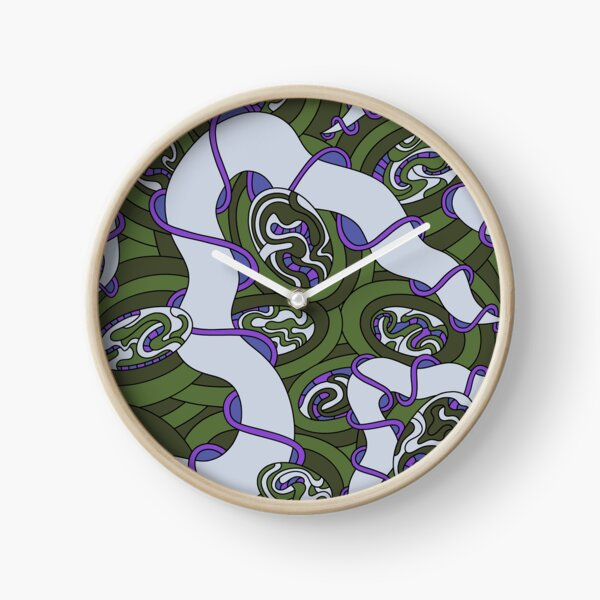 Wandering Abstract Line Art 04: Green Clock