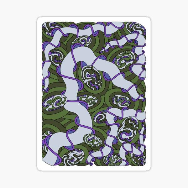 Wandering Abstract Line Art 04: Green Sticker