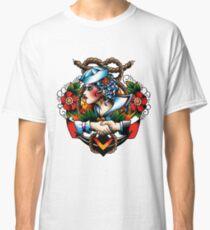 Navy Pinup Classic T-Shirt