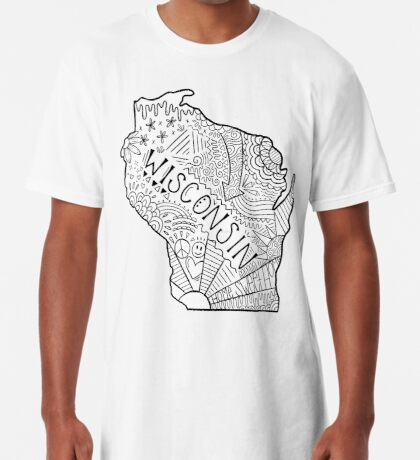 Wisconsin State Doodle Longshirt