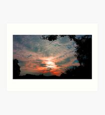 """Back Yard Sunset #2"" Art Print"