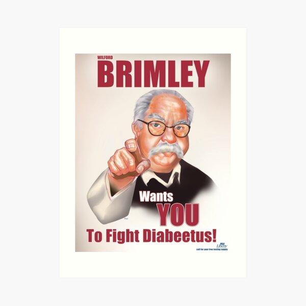 Wilford Brimley Propaganda poster Art Print