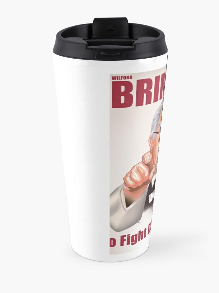 Alternate view of Wilford Brimley Propaganda poster Travel Mug