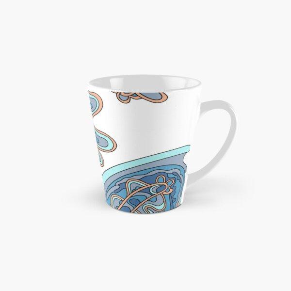 Wandering Abstract Line Art 07: Blue Tall Mug