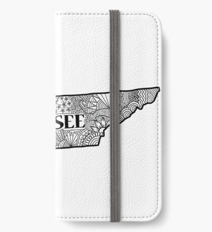 Tennessee State Doodle iPhone Flip-Case