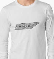 Tennessee State Doodle Langarmshirt