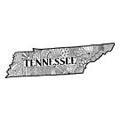 Tennessee State Doodle von Corey Paige Designs
