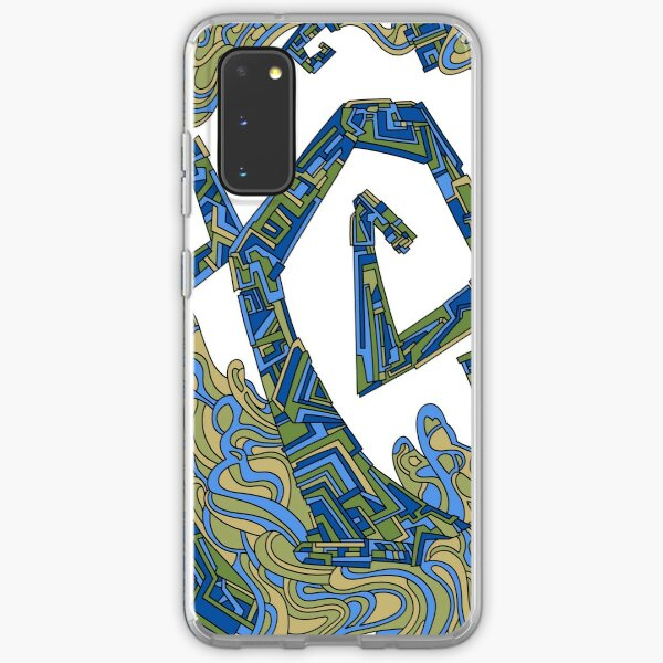 Wandering Abstract Line Art 08: Green Samsung Galaxy Soft Case