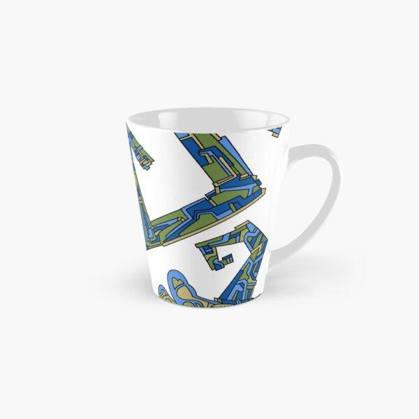 Wandering Abstract Line Art 08: Green Tall Mug