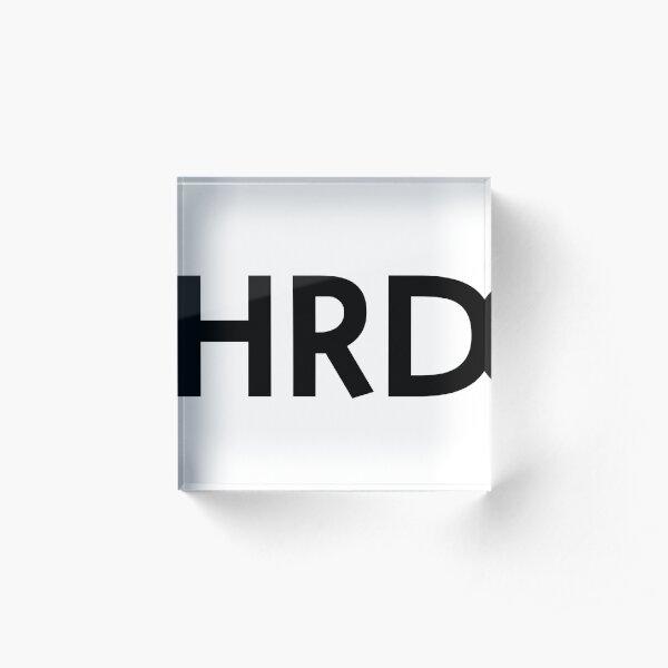 HRD logo Acrylic Block