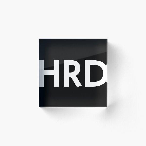 HRD logo (white) Acrylic Block