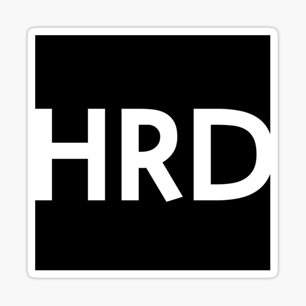 HRD logo (white) Sticker