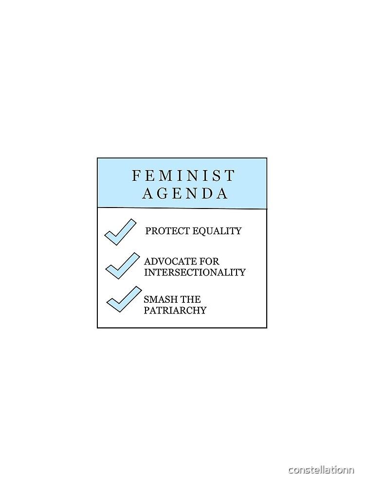 Feministische Agenda - Blau von constellationn